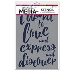 Ranger Ink - Dina Wakley Media - Stencils - I Want