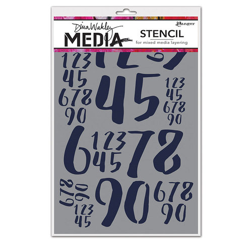 Ranger Ink - Dina Wakley Media - Stencils - Jumbled Numbers