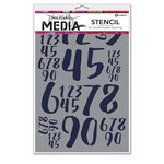 Ranger Ink - Dina Wakley Media - Stencils - Jumbled Numbers