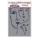 Ranger Ink - Dina Wakley Media - Stencils - Scribbled Faces