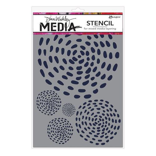 Ranger Ink - Dina Wakley Media - Stencils - Swirling Dashes