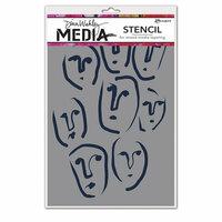 Ranger Ink - Dina Wakley Media - Stencils - Circle Faces