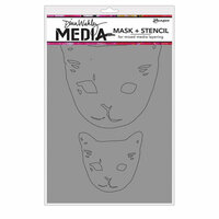Ranger Ink - Dina Wakley Media - Masks - Cat Head