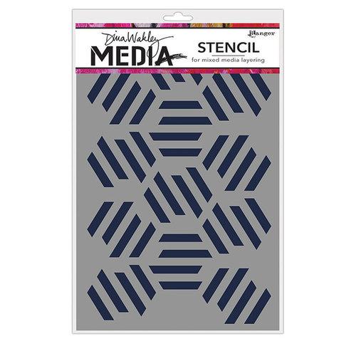 Ranger Ink - Dina Wakley Media - Stencils - Fractured Hexagons