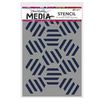 Ranger Ink - Dina Wakley Media - Stencils - Fractured Hexagons