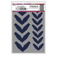 Ranger Ink - Dina Wakley Media - Stencils - Large Fractured Chevrons