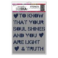 Ranger Ink - Dina Wakley Media - Stencils - Soul Shines