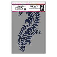 Ranger Ink - Dina Wakley Media - Stencil - Giant Flourish
