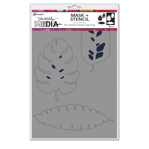Ranger Ink - Dina Wakley Media - Stencil and Mask - Tropical