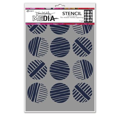 Ranger Ink - Dina Wakley Media - Stencils - Lined Circles