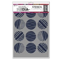 Ranger Ink - Dina Wakley Media - Stencils - Lined Circles