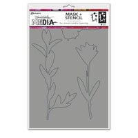 Ranger Ink - Dina Wakley Media - Stencils - Growing Mask