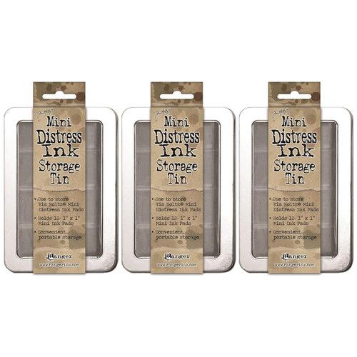 Ranger Ink - Tim Holtz - Mini Distress Ink Storage Tin - 3 Pack Set