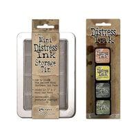 Ranger Ink - Tim Holtz - Mini Distress Ink Storage Tin with Mini Distress Ink Pad Set - Ten