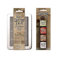 Ranger Ink - Tim Holtz - Mini Distress Ink Storage Tin with Mini Distress Ink Pad Set - Eleven