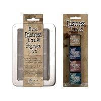 Ranger Ink - Tim Holtz - Mini Distress Ink Storage Tin with Mini Distress Ink Pad Set - Twelve