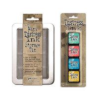 Ranger Ink - Tim Holtz - Mini Distress Ink Storage Tin with Mini Distress Ink Pad Set - Thirteen
