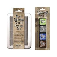 Ranger Ink - Tim Holtz - Mini Distress Ink Storage Tin with Mini Distress Ink Pad Set - Fourteen