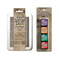 Ranger Ink - Tim Holtz - Mini Distress Ink Storage Tin with Mini Distress Ink Pad Set - Fifteen