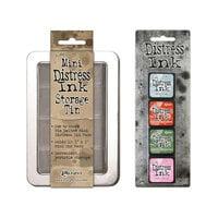 Ranger Ink - Tim Holtz - Mini Distress Ink Storage Tin with Mini Distress Ink Pad Set - Sixteen