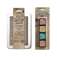 Ranger Ink - Tim Holtz - Mini Distress Ink Storage Tin with Mini Distress Ink Pad Set - One