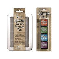 Ranger Ink - Tim Holtz - Mini Distress Ink Storage Tin with Mini Distress Ink Pad Set - Two