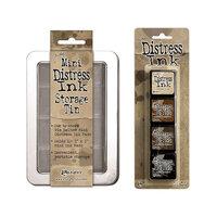 Ranger Ink - Tim Holtz - Mini Distress Ink Storage Tin with Mini Distress Ink Pad Set - Three