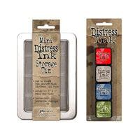 Ranger Ink - Tim Holtz - Mini Distress Ink Storage Tin with Mini Distress Ink Pad Set - Five
