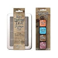 Ranger Ink - Tim Holtz - Mini Distress Ink Storage Tin with Mini Distress Ink Pad Set - Six