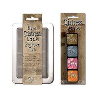 Ranger Ink - Tim Holtz - Mini Distress Ink Storage Tin with Mini Distress Ink Pad Set - Seven