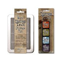Ranger Ink - Tim Holtz - Mini Distress Ink Storage Tin with Mini Distress Ink Pad Set - Eight