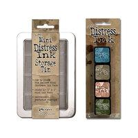 Ranger Ink - Tim Holtz - Mini Distress Ink Storage Tin with Mini Distress Ink Pad Set - Nine