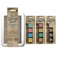 Ranger Ink - Tim Holtz - Mini Distress Ink Storage Tin with 12 Mini Ink Pads