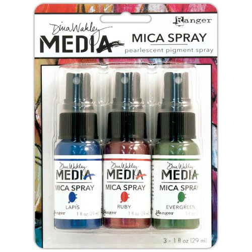 Ranger ink - Dina Wakley Media - Mica Sprays - 3 Pack