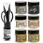 Ranger Ink - Stickles Glitter Gel and Palette Knife Set - Complete Bundle
