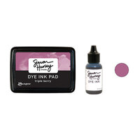 Ranger Ink - Simon Hurley - Dye Ink Pad and Reinker - Triple Berry