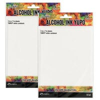 Ranger Ink - Tim Holtz - Alcohol Ink Yupo Paper - White - 20 Pack