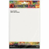 Ranger Ink - Tim Holtz - Alcohol Ink Yupo Paper - White - 10 Pack