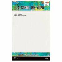 Ranger Ink - Tim Holtz - Alcohol Ink Yupo Paper - 5 x 7 - 10 Pack