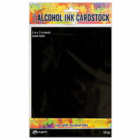 Ranger Ink - Tim Holtz - Alcohol Ink Cardstock - Matte Black - 10 Pack