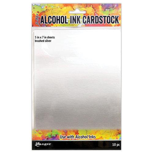 Ranger Ink - Tim Holtz - Alcohol Ink Cardstock - Brushed Silver
