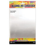 Ranger Ink - Tim Holtz - Alcohol Ink Cardstock - Brushed Silver - 10 Pack