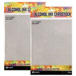 Ranger Ink - Tim Holtz - Alcohol Ink Cardstock - Silver Sparkle - 20 Pack