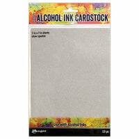 Ranger Ink - Tim Holtz - Alcohol Ink Cardstock - Silver Sparkle - 10 Pack