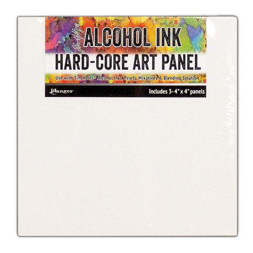 Ranger Ink - Tim Holtz - Hard Core Art Panel - 4 x 4 - 3 Pack
