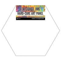 Ranger Ink - Tim Holtz - Alcohol Ink Hard Core Art Panels - Hex Shaped - 4 Inch