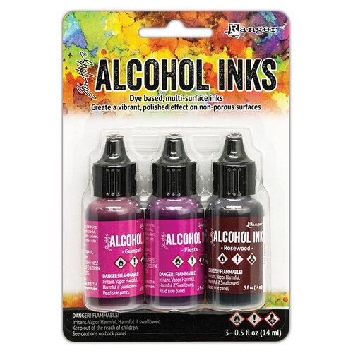 Ranger Ink - Tim Holtz - Alcohol Inks - 3 Pack - Pink Red Spectrum