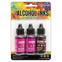 Ranger Ink - Tim Holtz - Alcohol Inks - 3 Pack - Pink Red Spectrum