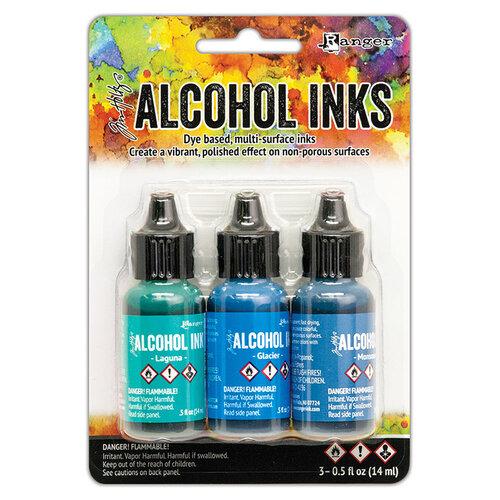 Ranger Ink - Tim Holtz - Alcohol Inks - 3 Pack - Teal Blue Spectrum