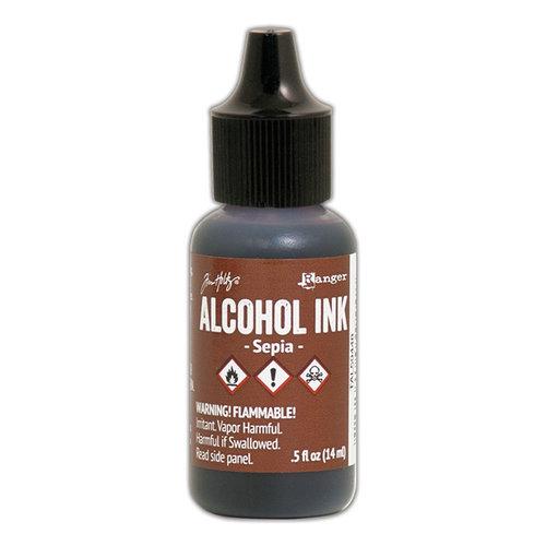 Ranger Ink - Tim Holtz - Adirondack Alcohol Inks - Sepia